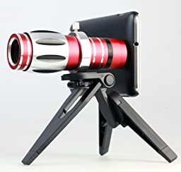 17x Zoom Optical Telescope Camera Lens Kit + Tripod & Case for Samsung Galaxy Note2,n7100