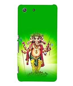 printtech Lord God Ganesha Back Case Cover for Sony Xperia M5 Dual E5633 E5643 E5663:: Sony Xperia M5 E5603 E5606 E5653