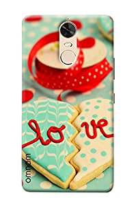 Omanm Broken Heart Made Of Cookies With Love Printed Designer Back Cover Case For Lenovo K5 Note