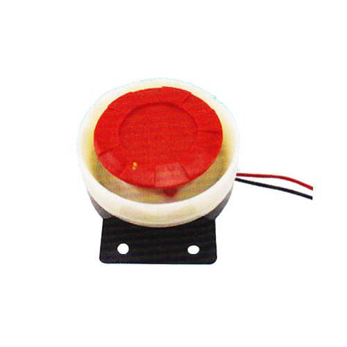 Generic Pack Of 100Pcs Horn Speaker Piezo Buzzer 40V 2500Hz Black & Red Case Electronic Components