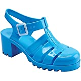 New Womens Summer Retro Jelly Slingback Strappy Heel Rain Fisherman Sandals