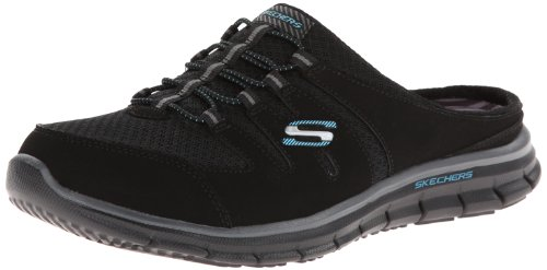 Skechers Women's Glider Fashion Sneaker,Black,7.5 M US