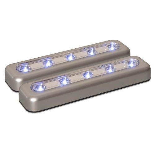 71187CC LED de 7 pulgadas Barra de tareas, de plata, 2-Pack