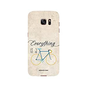 iSweven Printed _samS7E_3156 Everything is a Cycle Design Multicolored Matte finish Back case cover for Samsung Galaxy S7 Edge