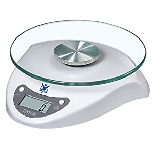 Taylor 3831BL Biggest Loser 6.6 Pound Kitchen Scale with Glass Platform