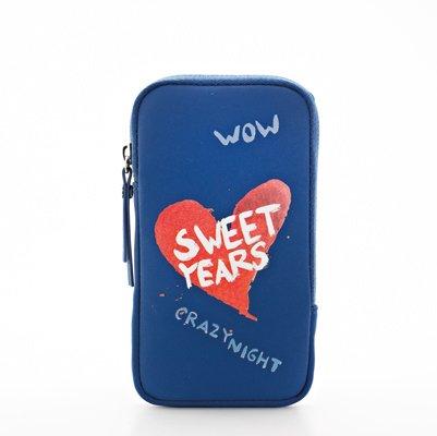 Sweet Years Heart Collection Zigly Custodia per iPhone 5/5SE, XL, Blu
