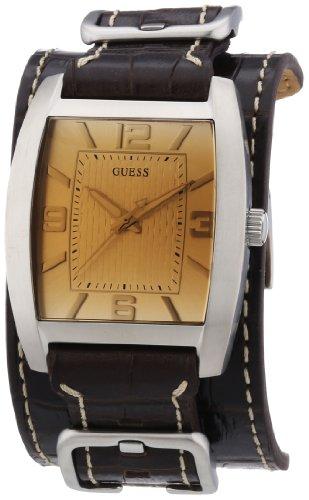 Guess W0186G2 - Reloj analógico de cuarzo para hombre con correa de piel, color marrón