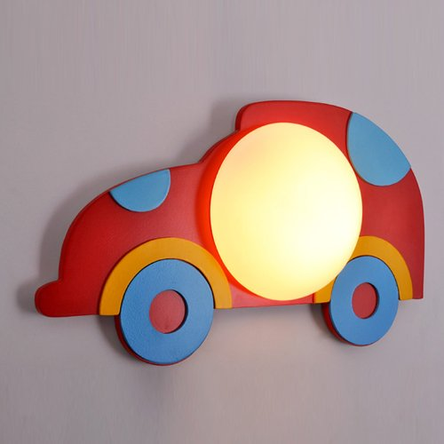Lovely Red Car Boy'S Room Wall Lamp Creative Kid'S Room Wall Lamp Fashion Bedroom Wall Lamp