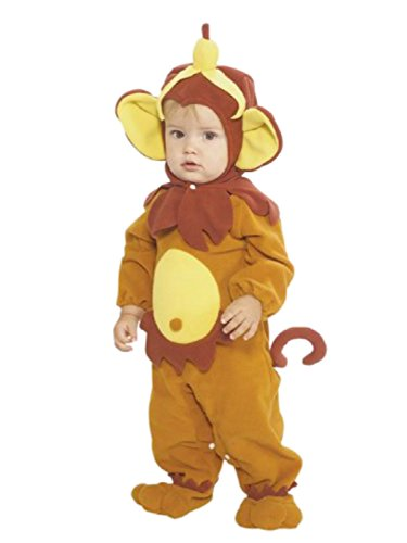 Rubies Infant Boys & Girls Monkey Costume With Banana Hat Baby Romper