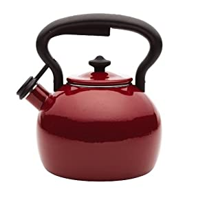 Paula Deen Signature Teakettles 2-Quart Bulb Kettle, Red Speckle