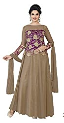 Kaizen Export Brown Soft Net Stylish Gown