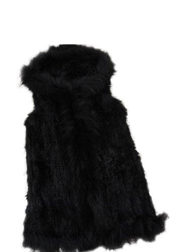 Manteaux sans manche hossen femme fourrure de raton - Fourrure noir sans manche ...