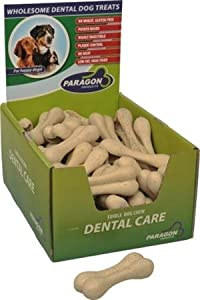 PARAGON 154019 50-Count Display Box Dental Pet Treat Rice Bone