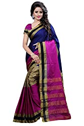 Fabcart Pink Color Art Silk Saree with Blouse Piece