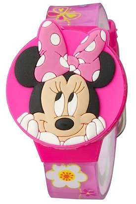 Disney Minnie Mouse Bow-Tique Girls Lcd Watch With Molded Flip-Top front-226150
