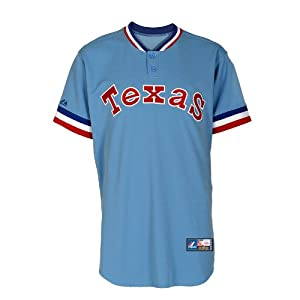 MLB Texas Rangers Mens Cooperstown Throwback Replica Jersey, Columbia by Majestic