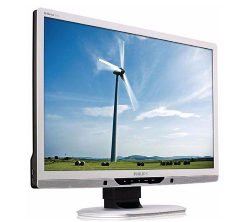 Phillips 225B2CS/00 55,9 cm (22 Zoll) widescreen TFT Monitor (DVI, VGA, 5ms Reaktionszeit) silber