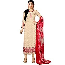 Vasu Saree Party Cream Straight Salwar Suit