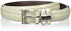 Stacy Adams Men's Big-Tall 35 mm Genuine Snakeskin with Leather Embossed Croc and Lizard, Cream, 56