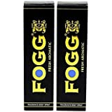 Fogg BLACK Fresh Aromatic Body Spray Deodorant - For Men, 120ml (Pack Of 2)