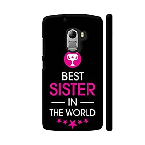 Colorpur Rakhi Special Best Sister In The World On Black Artwork On Lenovo K4 Note Cover (Designer Mobile Back Case) | Artist: Dolly P