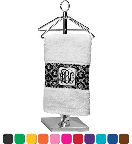 Monogrammed Damask Personalized Finger Tip Towel front-1015525
