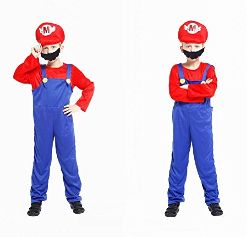 Ponce Children Super Mario Halloween Cosplay Costumes Omar Rio And Louis