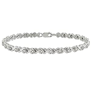 1 ct.t.w. Diamond Tennis Bracelet in Silver, I3-I4, 7.25
