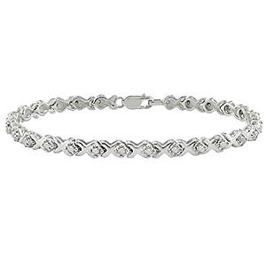 1 ct.t.w. Diamond Tennis Bracelet in Silver, I3-I4, 7.25