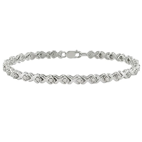 1 ct.t.w. Diamond Tennis Bracelet in Silver,
