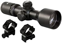 Tactical 3-9x40 Compact Rifle Scope With Rings Fits Weaver Picatinny Rails And AR15 M4 SR556 SR22 GSG-522 Flattop Style Rifles