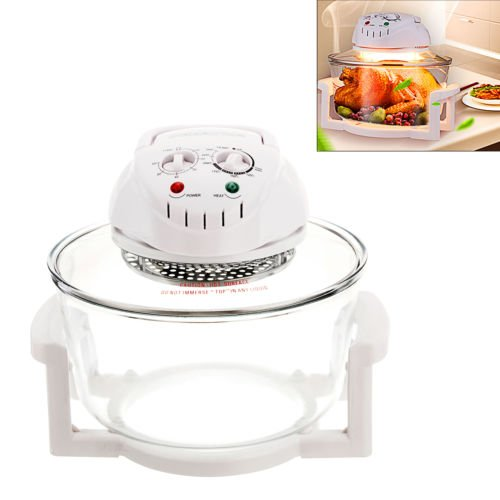 Anmas Box HALOGEN OVEN - MULTIFUNCTIONAL EASY, HEALTHY and FAST COOKING - ROAST, GRILL, BAKE, BBQ, FRY - An ALL IN ONE cooking solution with this 12 Litre 1.3 Kw HALOGEN OVEN