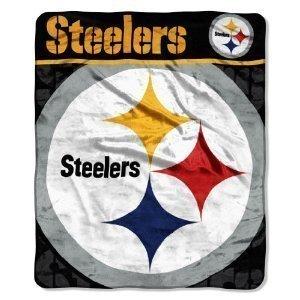 Pittsburgh Steelers Micro Raschel Throw Blanket front-484328