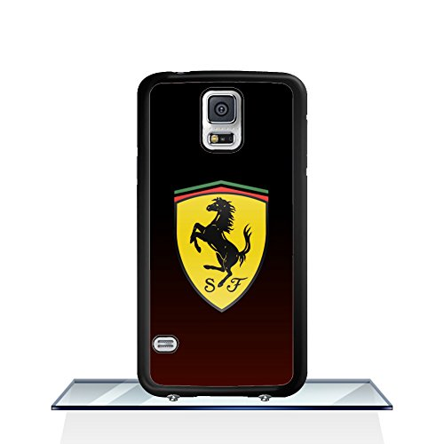 Car - [Ferrari] Samsung S5 I9600 Schutzhülle HülleCase Ferrari Zäh Galaxy S5 I9600 Hartplastik HülleCase Ferrari Samsung Galaxy S5 I9600 Telefon-Kasten HülleCase für Jungen