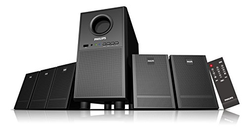 Philips Heartbeat SPA-3000U/94 5.1 Multimedia Speaker System (Black  28w RMS with USB & AUX Connection only)  available at amazon for Rs.2657