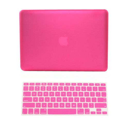 #1  TopCase 2 in 1 Retina 13-Inch Rubberized Hard Case Cover for Apple MacBook Pro 13.3