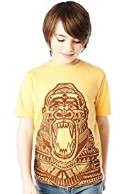 Pure Cotton Aztec Gorilla Print T-Shirt with Stay New™