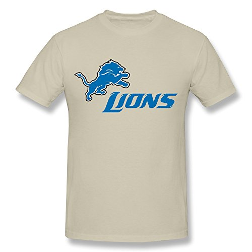 HI Nfl Football Detroit Lions Team Logo T Shirt For Men Natural L