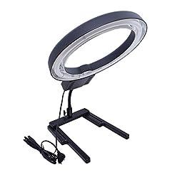 Studio 40W 5400K Photo Circular Ring Lamp Light + Flexible Base Stand 100-120V