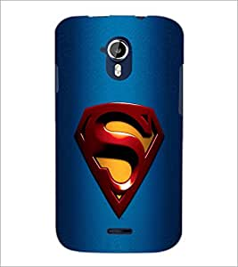 PrintDhaba Superman Logo D-2087 Back Case Cover for MICROMAX A116 CANVAS HD (Multi-Coloured)