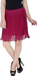 Soundarya Women's Regular Fit Skirt (Maroon, 24)