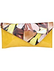 Do Bhai Multi Patent Women's Clutch (Yellow) (Multi Patent -Yellow)