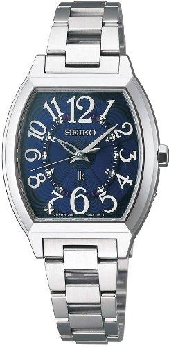 [セイコー]SEIKO 腕時計 LUKIA ルキア ソーラー電波 ネイビー SSVE051 レディース