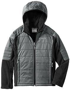 Columbia Big Boys' Fast Trek Hybrid Jacket, Graphite, Small
