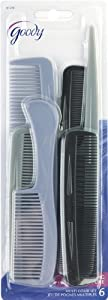 Goody Styling Essentials Comb 6 On, Family Pack, 1.357 Ounce (Pack of 3)