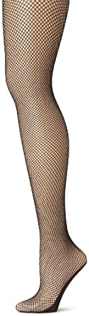 Capezio Women's Professional Fishnet Seamless Tight,Black,X-Large