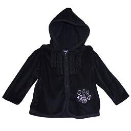 Garanimals® Baby Girl\'s Soft Black Velour Hooded \