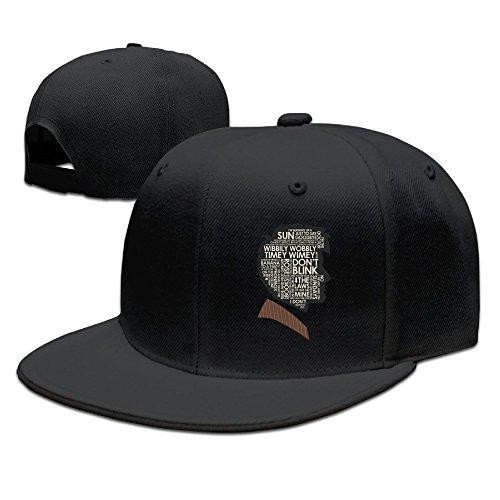 ssee-unisex-adult-head-thinking-flat-brim-baseball-visor-cap-black