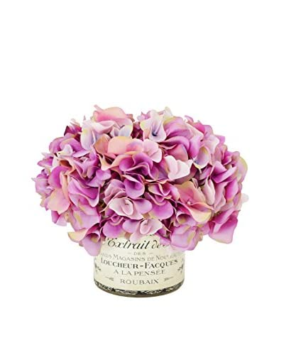Creative Displays Lavender & Pink Hydrangea in a French Label Container