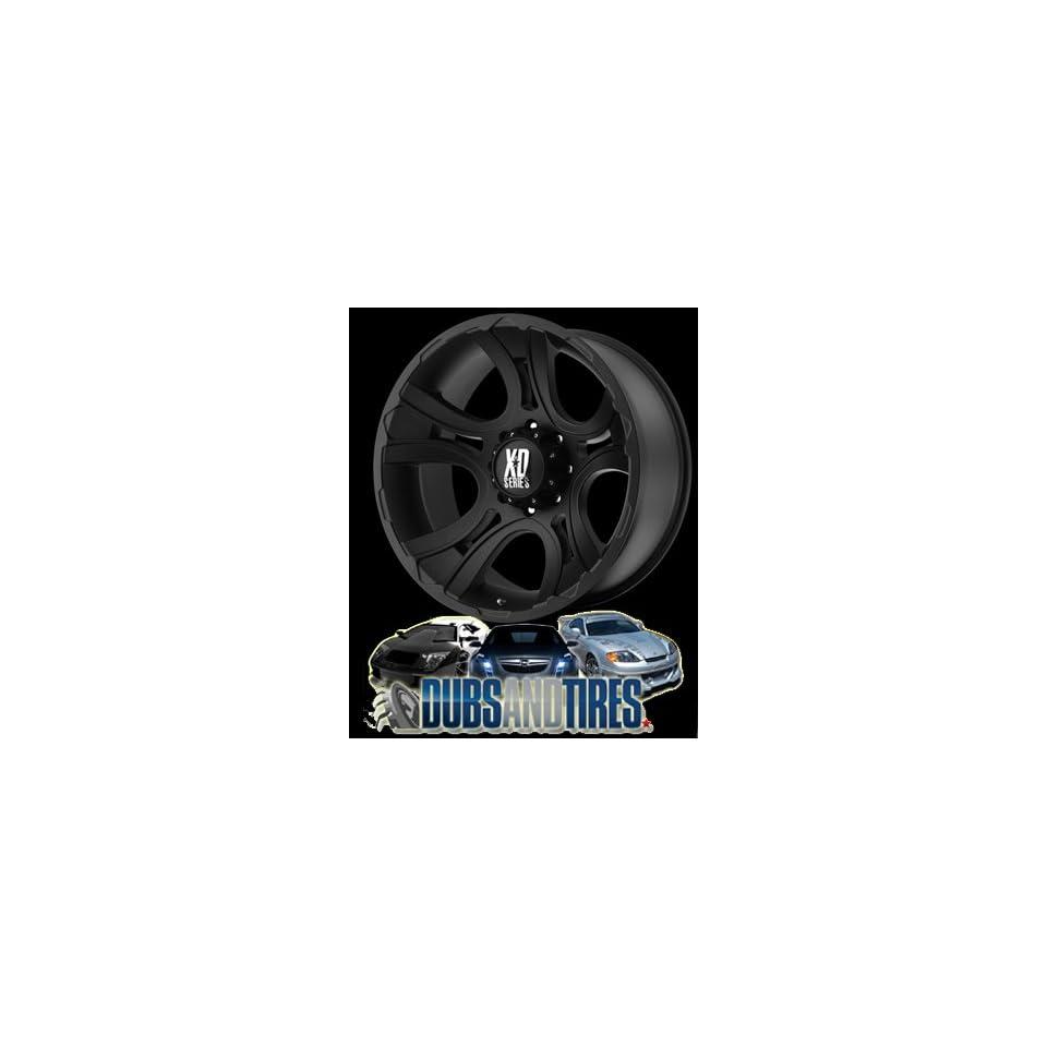 22 Inch 22x11 KMC XD SERIES wheels CRANK Matte Black wheels rims